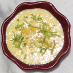 Raw corn chowder